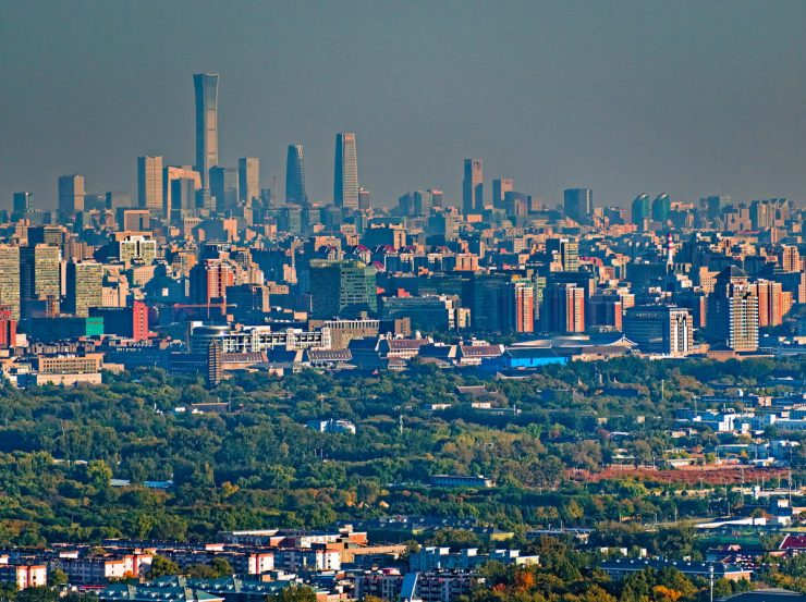 Beijing Cityscape Air View