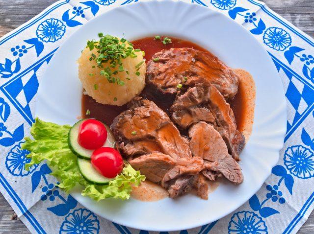 Schweinebraten, Bavarian Food, Oberammergau, Bavarian Alps, Alps