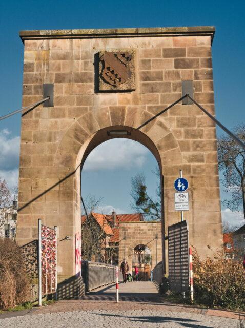 Kassel Cityscapes, Drahtbrücke over the river Fulda