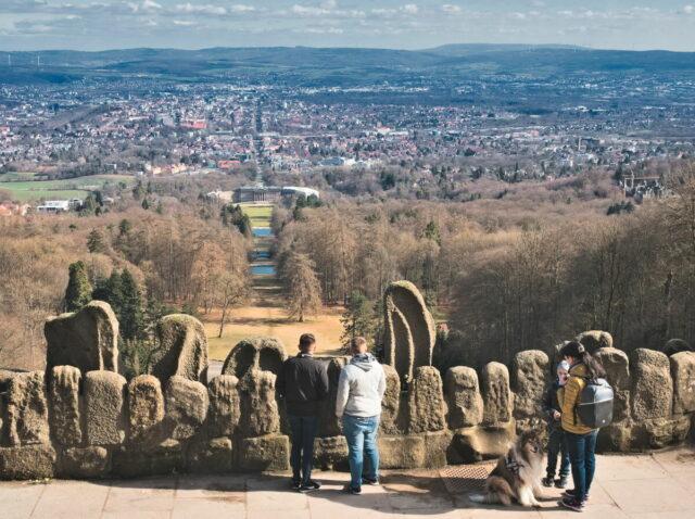 Landmark of Kassel: Hercules in the Bergpark Wilhelmshöhe